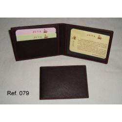 Ref. 079 Tarjetero de Libro en polipiel