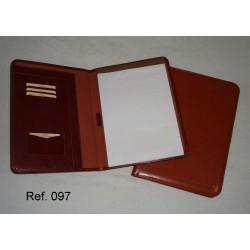 Ref. 097 Portadocumento con block en polipiel