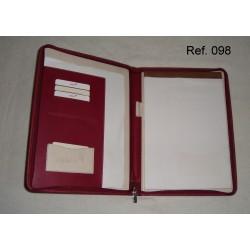 Ref. 098 Portadocumento de cremallera en polipiel
