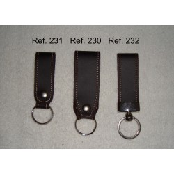 Ref. 230-231-232 Llavero de cinturón de piel vintage