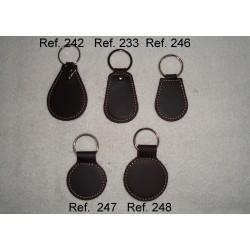 Ref. 233-242-246-247-248 Llaveros de anillas de piel vintage