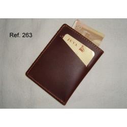 Ref. 263 Tarjetero Billetero de piel vintage