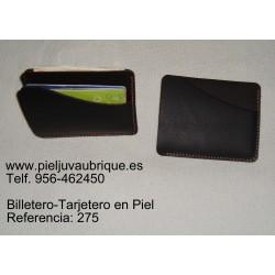 Ref. 275 Billetero-Tarjetero en Piel