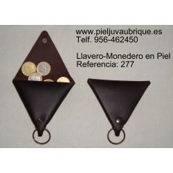 Ref. 277 Llavero-Monedero de Piel