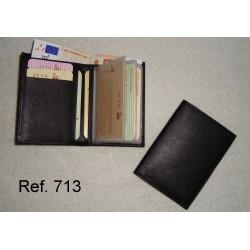 Ref. 713 Billetera Unisex en piel