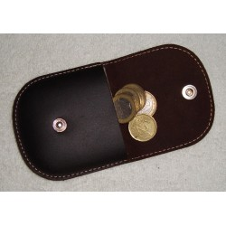 Porta monedas de piel vintage