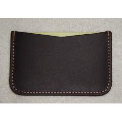 Ref. 202 Porta tarjeta simple de piel vintage
