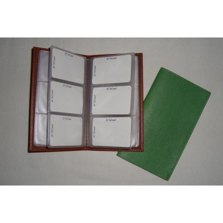 Ref. 184 Tarjetero de mesa en piel