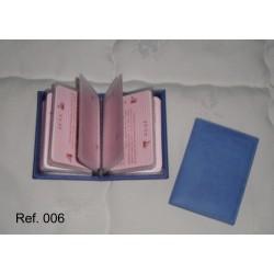 Ref. 006 Tarjetero de libro en polipiel