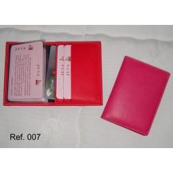 Ref. 007 Tarjetero de libro en polipiel