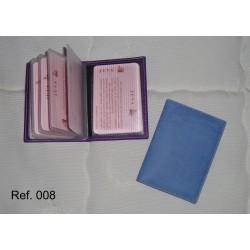 Ref. 008 Tarjetero libro de Quita y Pon en polipiel