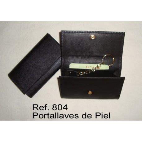 Ref. 808 Porta llaves con monedero en piel