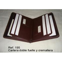 Ref. 195 Portadocumentos doble fuelle en piel