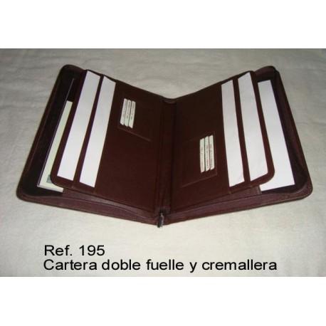 Ref. 195 Cartera doble fuelle y cremallera