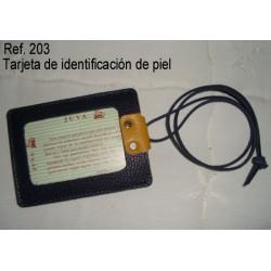 Ref. 203 Tarjetas de Identificación de piel
