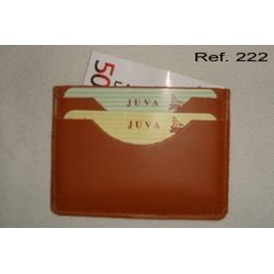 Ref. 222 Tarjetero rústico piel