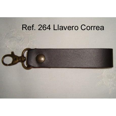 Ref. 264 Llavero cinturón con mosquetón de piel