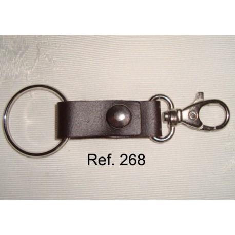 Ref. 268 Llavero doble piel rústica