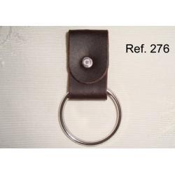 Ref. 276 Llavero de anilla en piel rústica