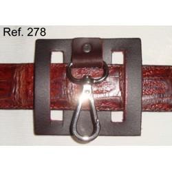 Ref. 278 Llavero de cinturón piel rústica