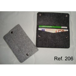 Ref. 206 Funda para cartilla y Billetero de Fieltro