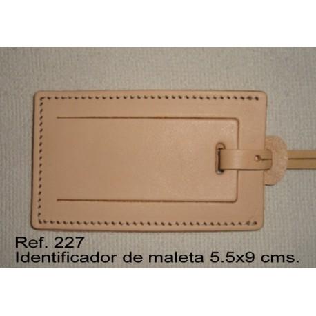 Ref. 227 Identificador de maleta de piel