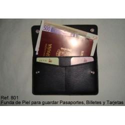 Ref. 801 Funda de piel para pasaporte