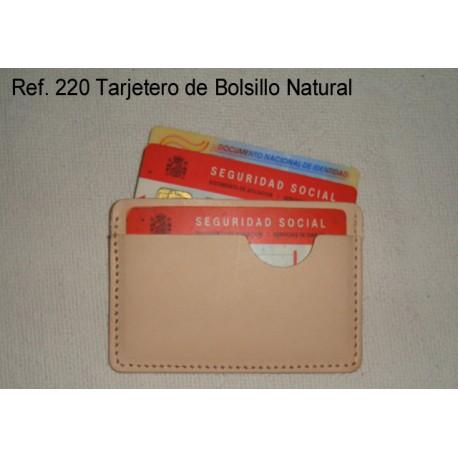 Ref. 220 Tarjetero Bolsillo Natural