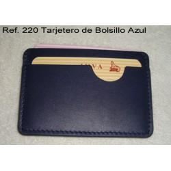 Ref. 220 Tarjetero Bolsillo Azul