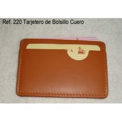 Ref. 220 Tarjetero de Bolsillo Cuero