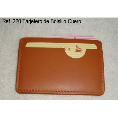Ref. 220 Tarjetero Bolsillo Cuero