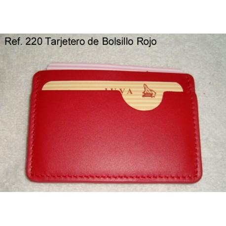 Ref. 220 Tarjetero de Bolsillo Rojo