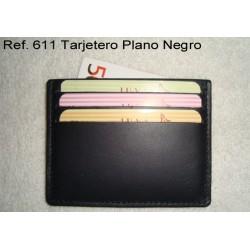 Ref. 611 Tarjetero Plano Negro