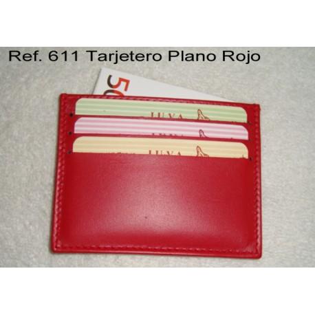 Ref. 611 Tarjetero Plano Rojo