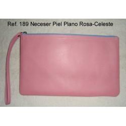 Ref. 189 Neceser Piel Plano Rosa