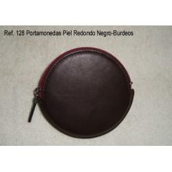 Ref. 128 Portamonedas Piel Redondo Negro