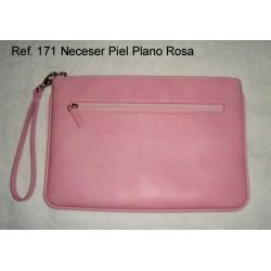 Ref. 171 Neceser Piel Plano Rosa