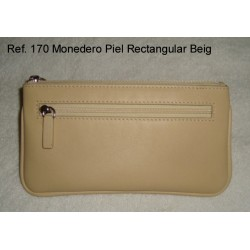 Ref. 170 Monedero Piel Rectangular Beig