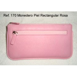 Ref. 170 Monedero Piel Rectangular Rosa