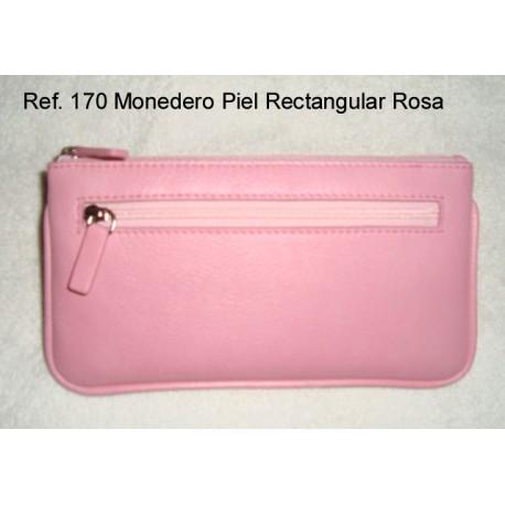 Ref. 170 Monedero Piel Rectangular Rosa