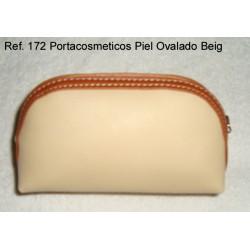 Ref. 172 Porta Cosméticos Piel Ovalado Beig