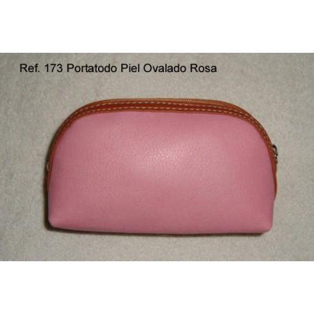 Ref. 173 Porta todo Piel Ovalado Rosa