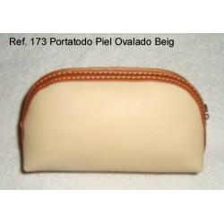 Ref. 173 Porta Todo Piel Ovalado Beig