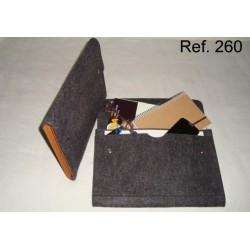 Ref. 260 Carpeta de fuelles en Fieltro y Piel